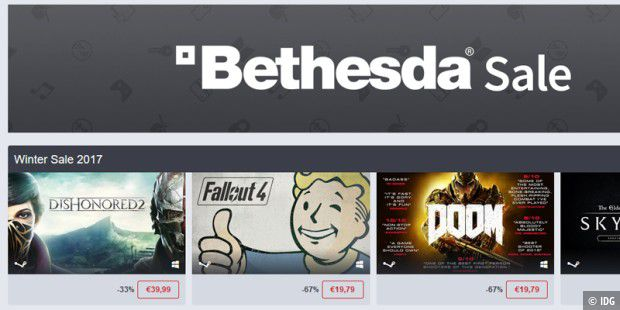 Bethesda Sale im Humble Store