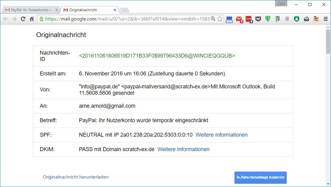 Info@Paypal.De