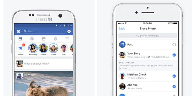 Facebook bekommt Stories und Direct-Messages