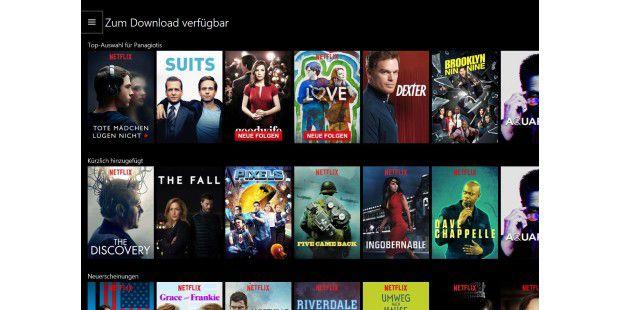 Netflix App für Windows 10: Update bringt Download-Funktion