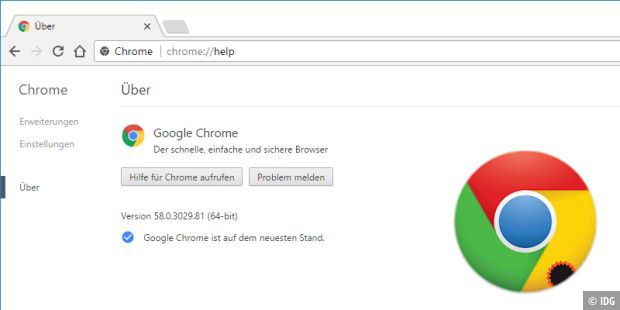 Update auf Chrome 58