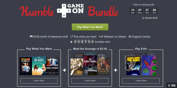 Das Humble GameOn Bundle