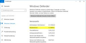 Kritisches Update für Windows Defender