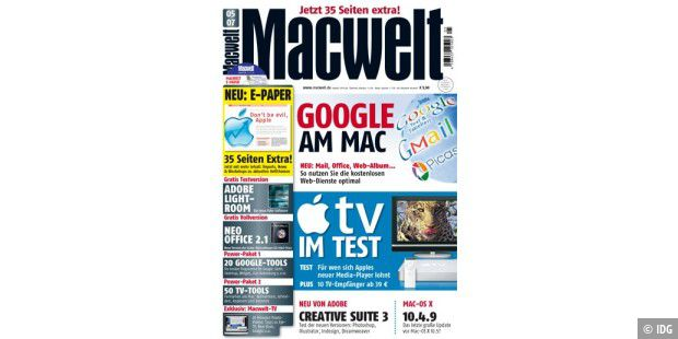 Macwelt 5/07: Google am Mac, Apple TV im Test