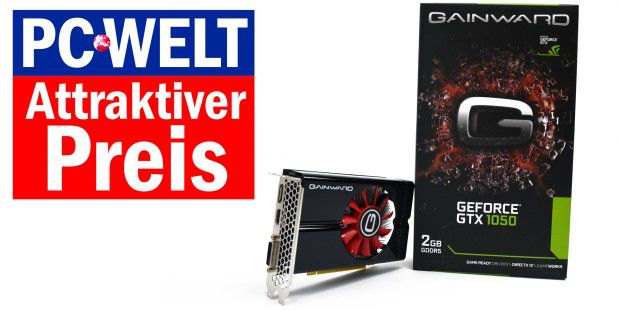 Attraktiver Preis: Gainward Geforce GTX 1050