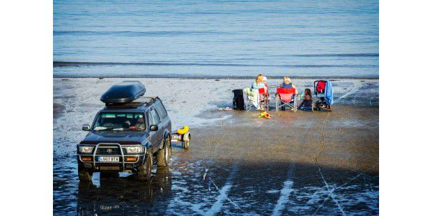 4WD on the Beach