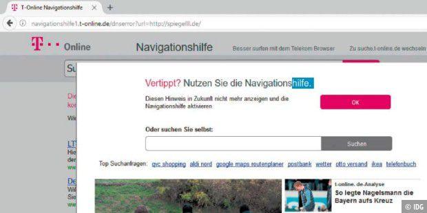 T Online Navigationshilfe Abschalten