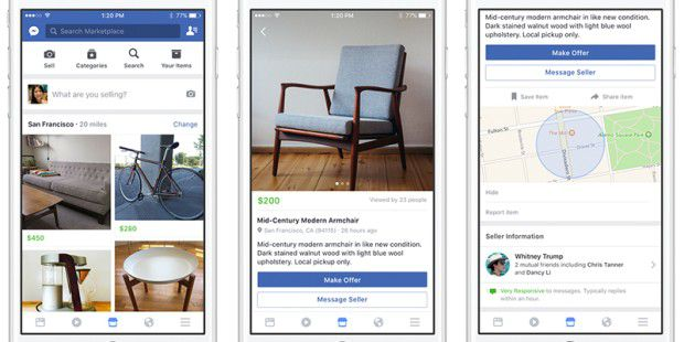 Facebook Marketplace will Ebay Konkurrenz machen