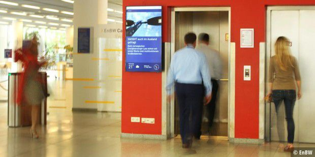 EnBW installiert Digital Signage für eine moderne Mitarbeiterkommunikation