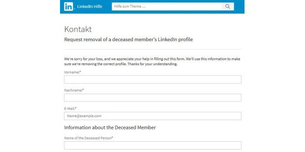 Linkedin Account Löschen so you provisions for your digital legacy reviews and