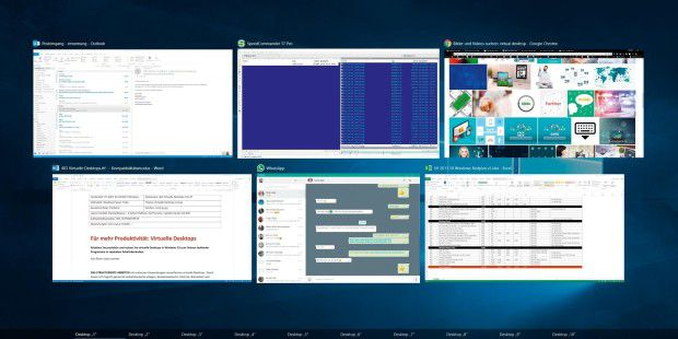 Windows 10 kann virtuelle Desktops - so geht's
