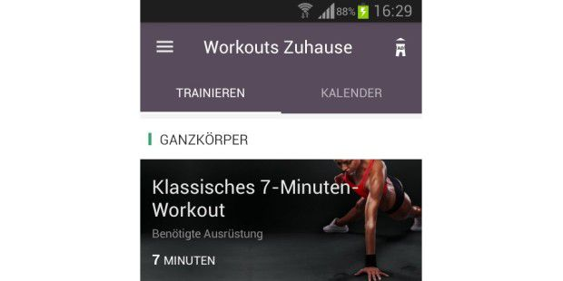 Workouts zuhause - Essensplaner