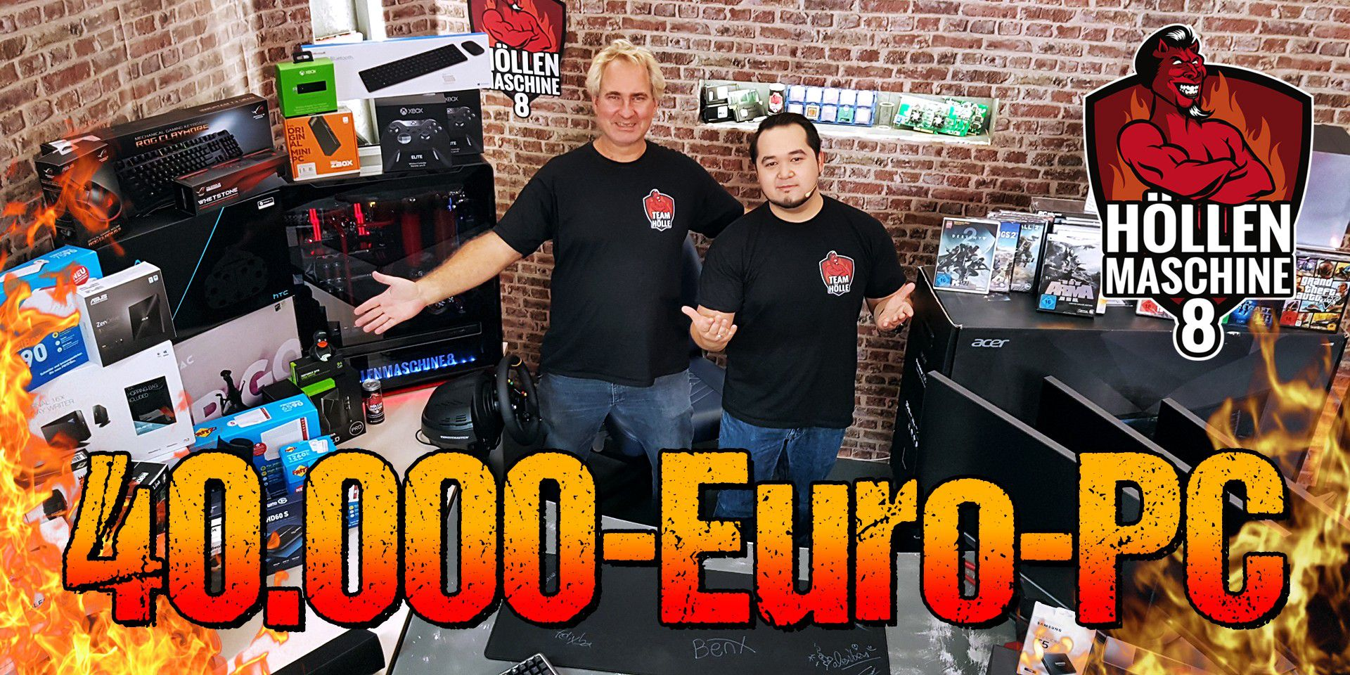 40.000€-GAMING-PC - ALLE Komponenten der HM08