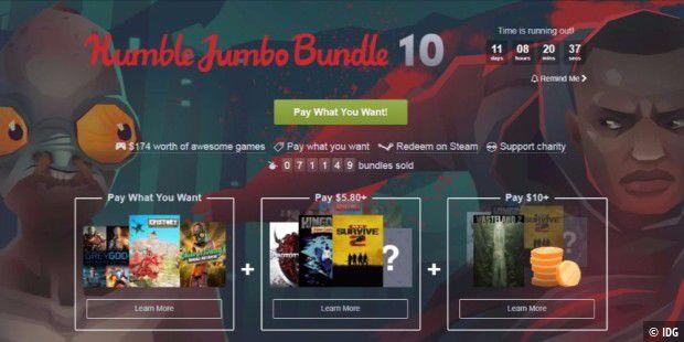 Humble Jumbo Bundle 10: Zocken zum Sparpreis