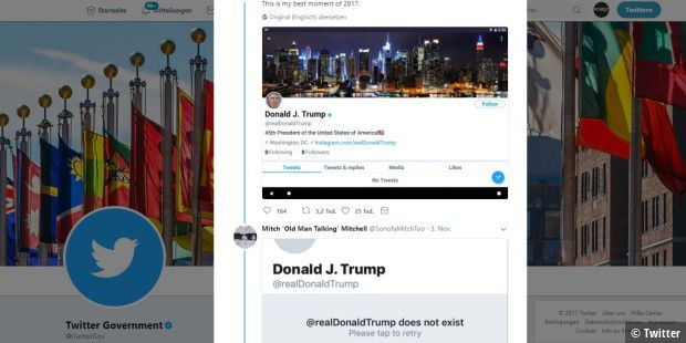 Deutscher sperrte Donald Trumps Twitterkonto