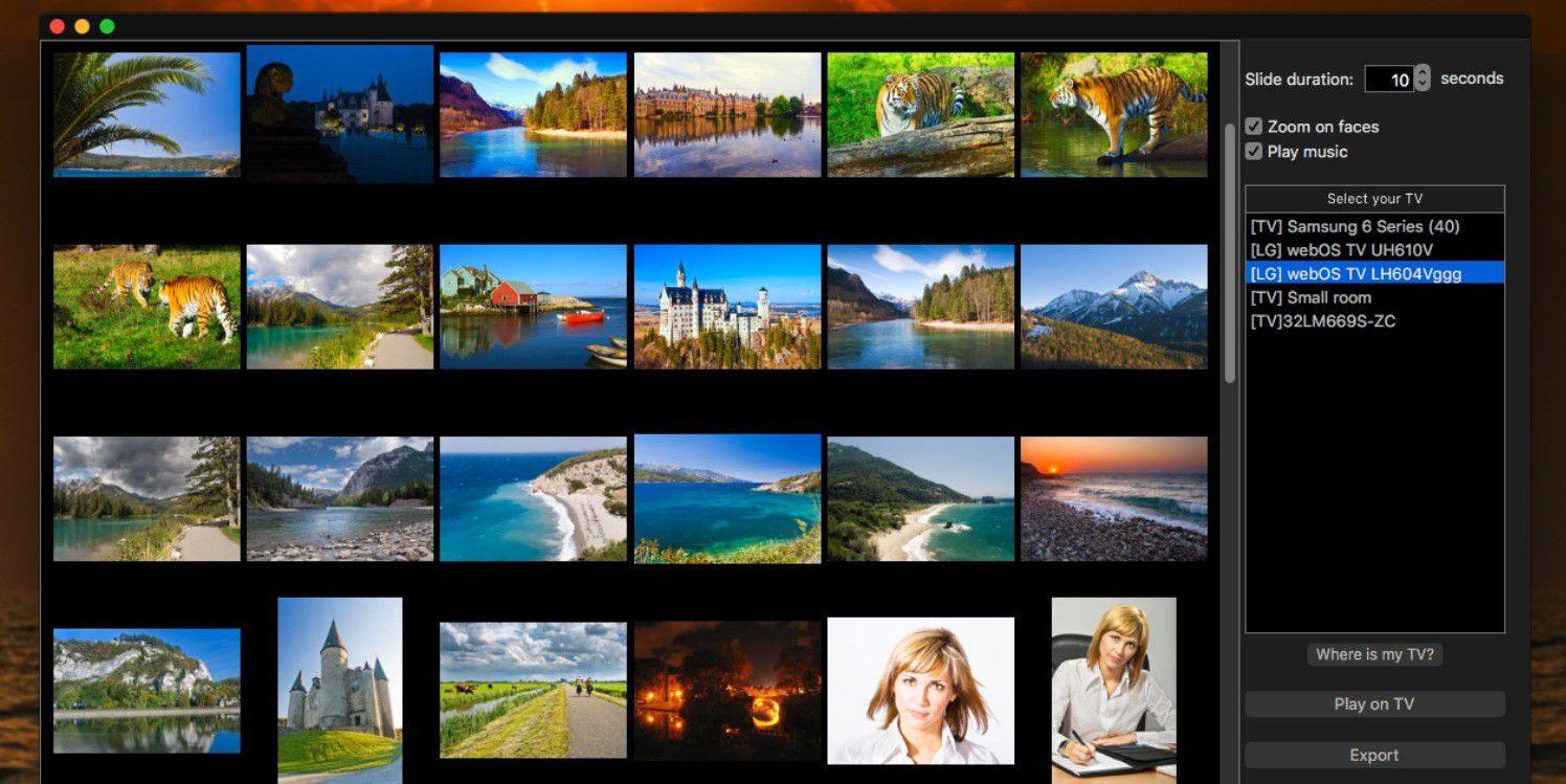 slideflow bilder vom mac auf den smart fernseher macwelt. Black Bedroom Furniture Sets. Home Design Ideas