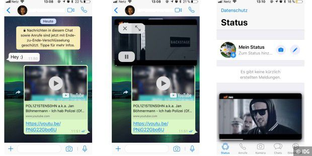 WhatsApp für iOS spielt YouTube-Videos nun direkt in der App ab