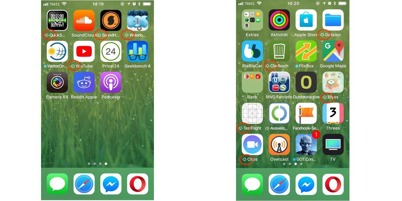 iphone speicher mit apps auslagern sparen macwelt. Black Bedroom Furniture Sets. Home Design Ideas