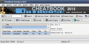 Gaming: CheatBook DataBase 2018
