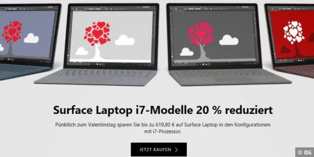 Aktuell im Angebot: Surface Laptop i7-Modelle
