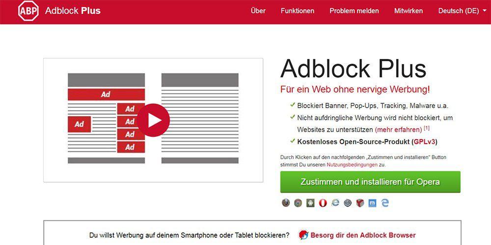 werbeblocker deutsch