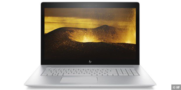 HP ENVY 17: Das IPS-Panel löst in Full-HD auf.