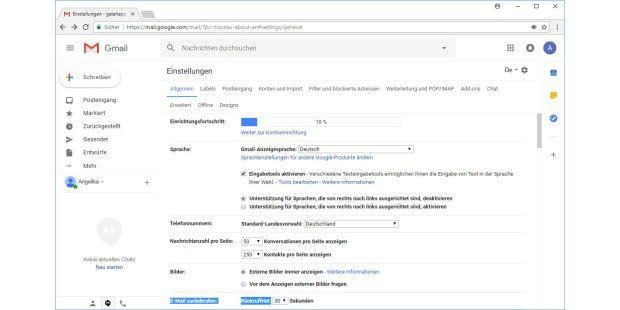Gmail Sendebestätigung