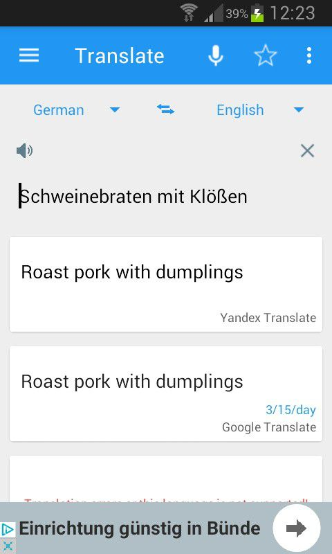 Die besten bersetzer apps f r android pc welt for Ubersetzung englisch deutsch text
