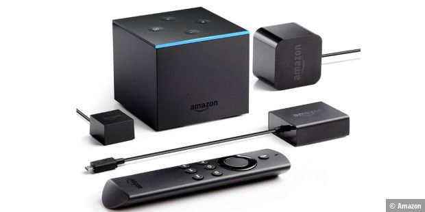 Lieferumfang des Amazon Fire TV Cube.