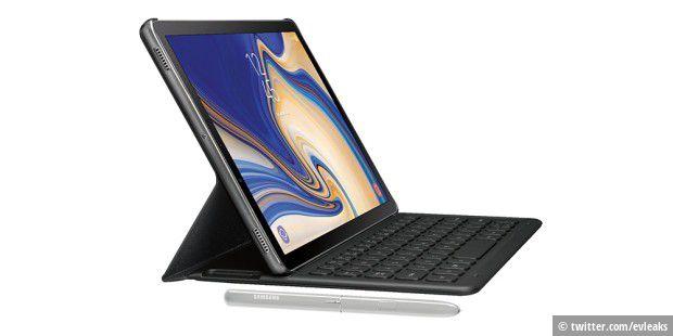galaxy tab s4 leak zeigt erste bilder des neuen samsung tablets pc welt. Black Bedroom Furniture Sets. Home Design Ideas