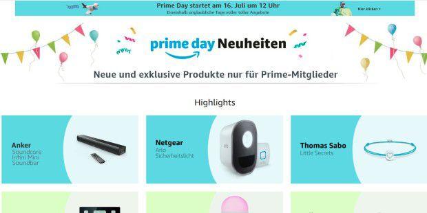 Amazon bringt zum Prime Day Produkt-Neuheiten auf den Markt