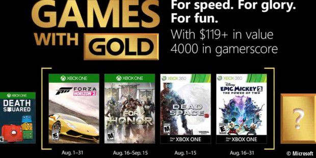 Xbox Games with Gold im August 2018