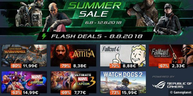 Gamesplanet Summer Sale: Tag 3 - 8.8.2018