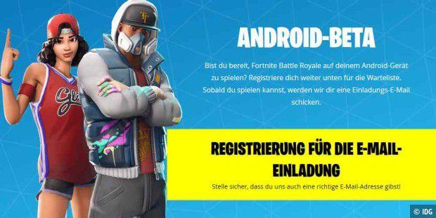 Fortnite Fur Android Beta Ist Gestartet Pc Welt