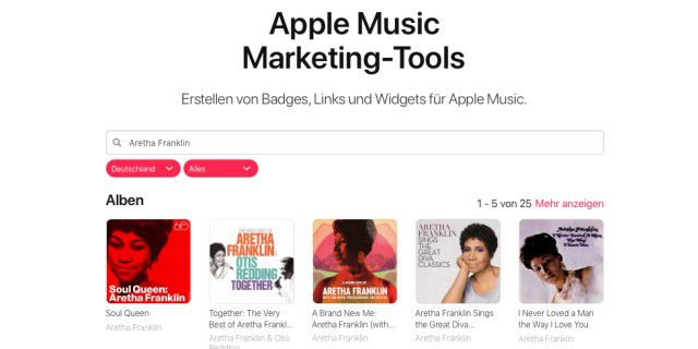 Apple Music im Browser anhören