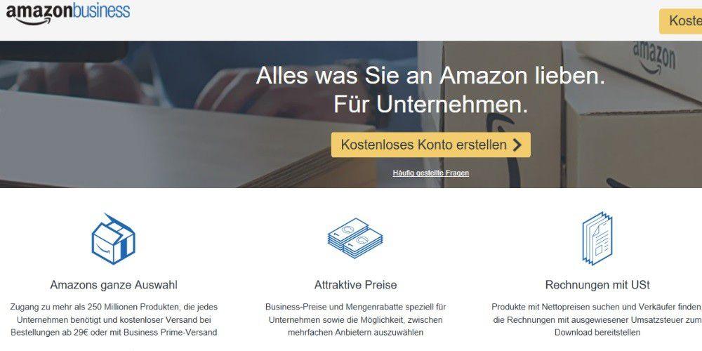 Amazon Business Hier Sparen Unternehmen Bei Einkäufen Pc Welt