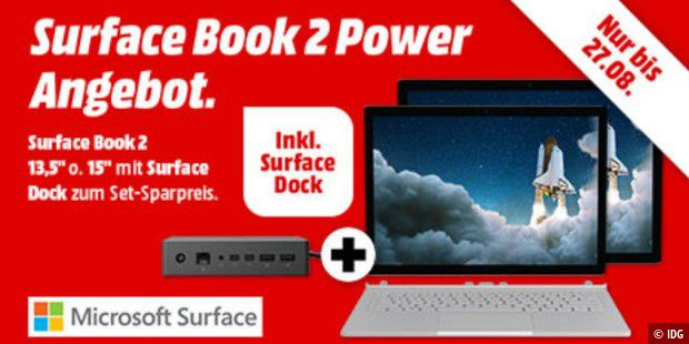 Surface Book 2 mit Surface Dock im Angebot