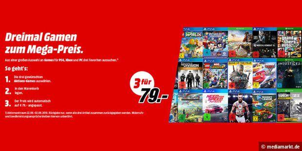 Mediamarkt 3 Spiele Für 49 Bzw 79 Euro Aussuchen Pc Welt