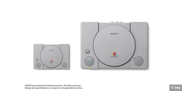 Playstation Classic (links) vs. Playstation One (rechts)