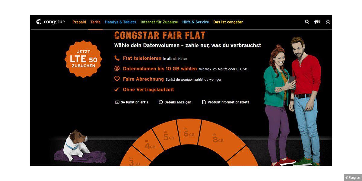 congstar fair flat