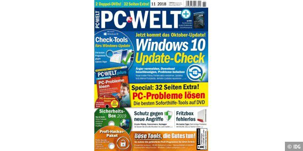 PC-WELT 11/2018 jetzt am Kiosk: Windows 10 Update-Check