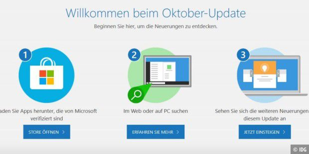 Windows 10 Oktober 2018 Update