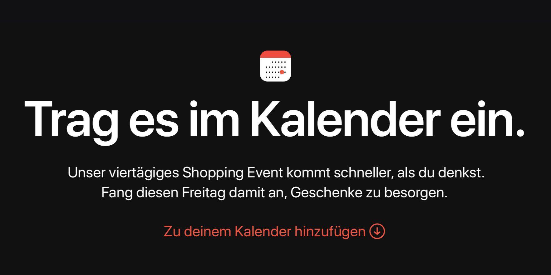 016259d6e9f7eb Apple kündigt Shopping-Event an  Gutscheine statt Rabatt - Macwelt