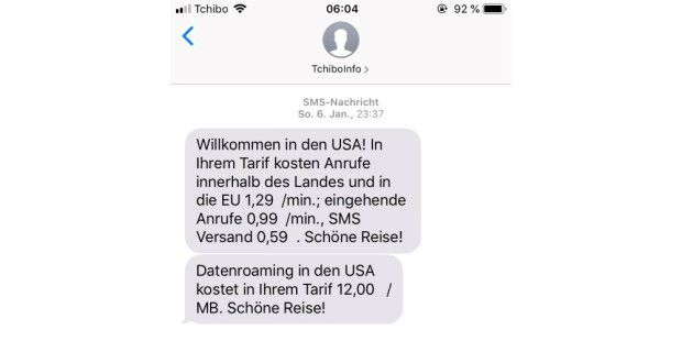 Tchibo Mobil Roaming: Kostenfalle USA vermeiden