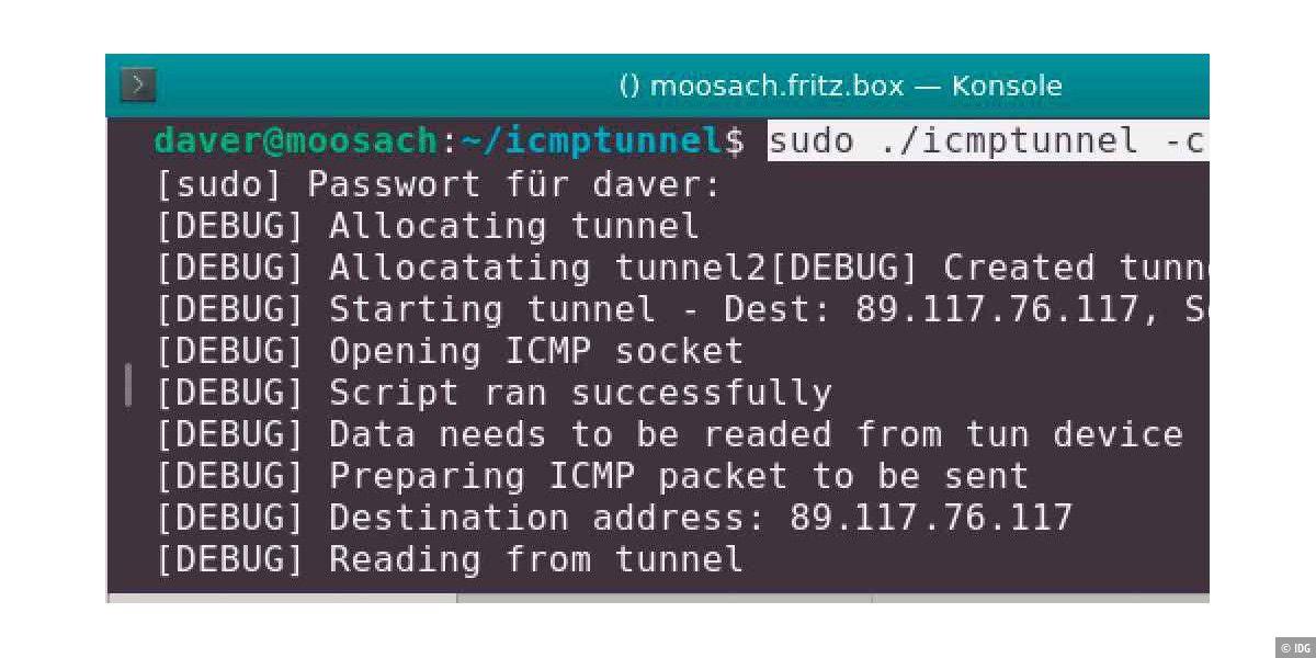 Netzwerk: Versteckte Pakete mit Linux verschicken