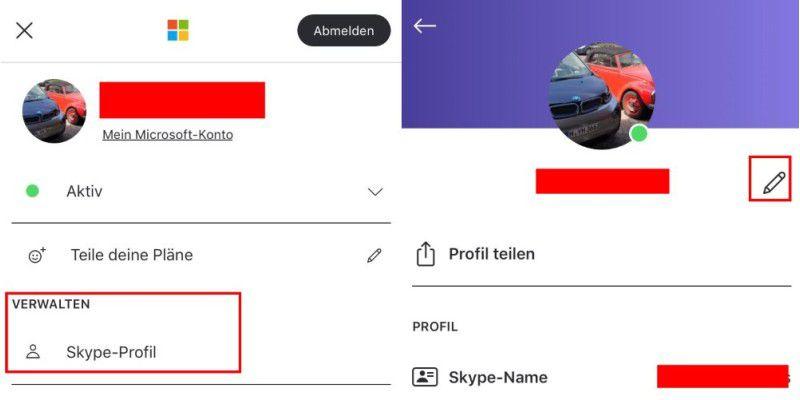 wie kann ich meinen skype namen ändern