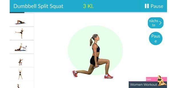 7715ea804fa1b6 Po-Übungen - Hintern Fitness  bauch beine po gesäß