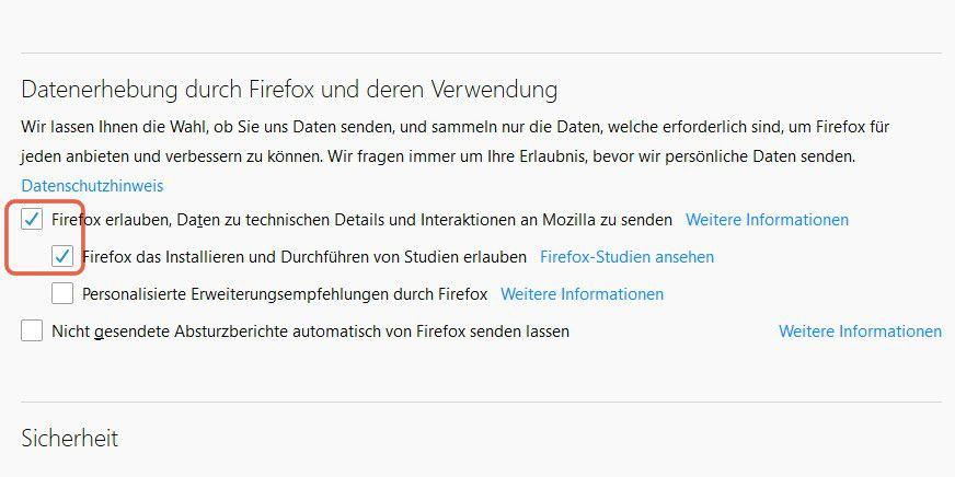 Addons verifizierung deaktivieren firefox Was sind
