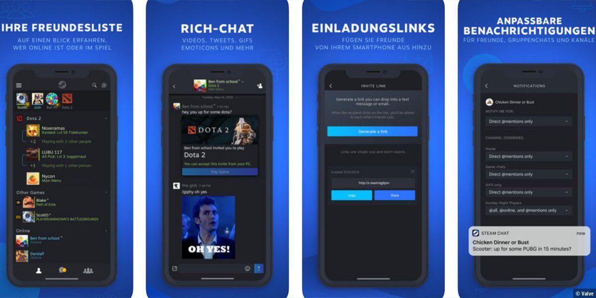 Der Steam Chat erhält eine kostenlose App