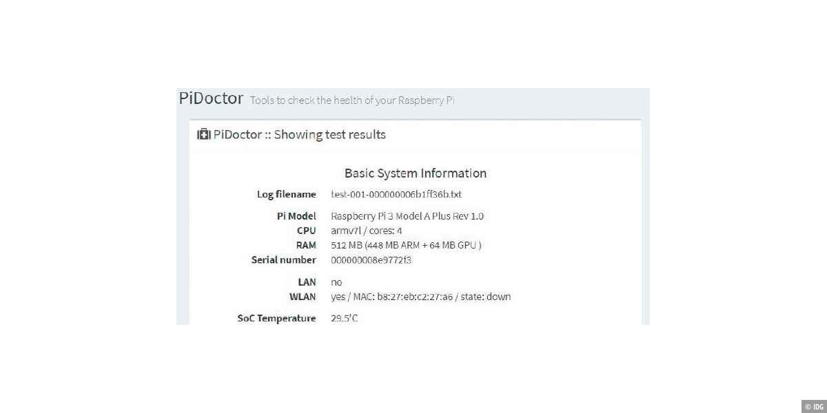 Pidoctor: Raspberry Pi überprüfen
